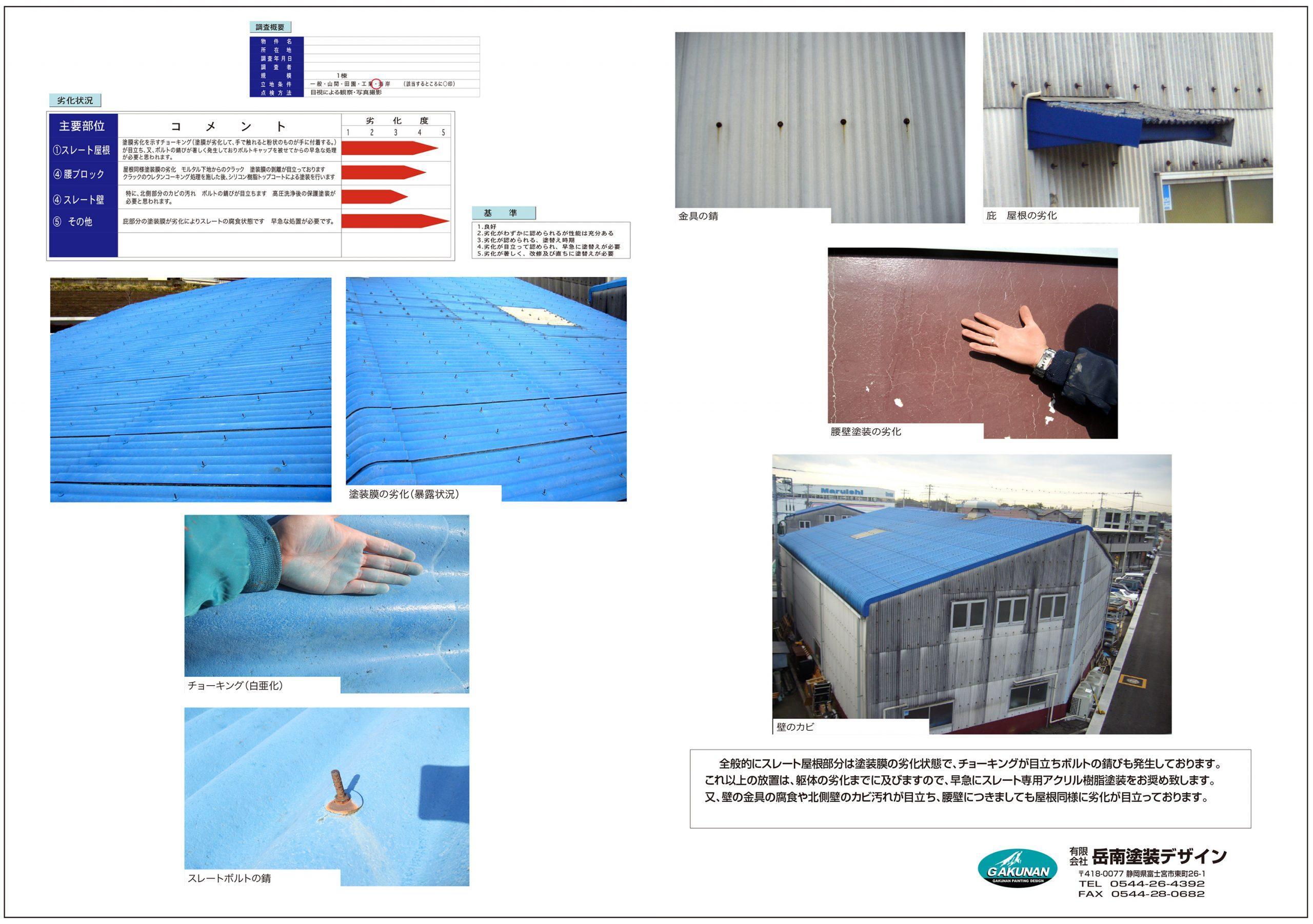 工場塗装状況 調査レポート