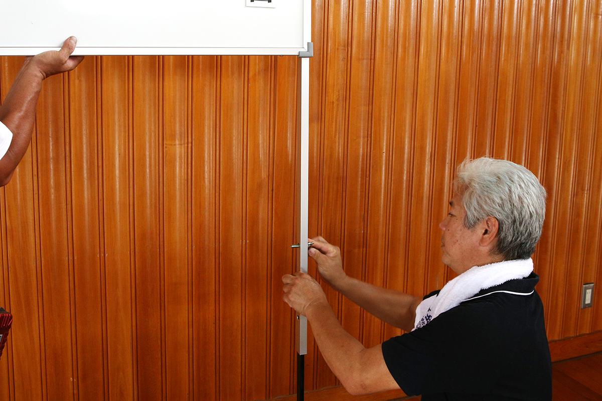 入学式・卒業式看板 設置法5